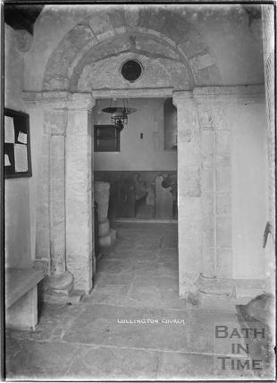 Lullington Church doorway, near Beckington, Somerset c. 13 October 1935