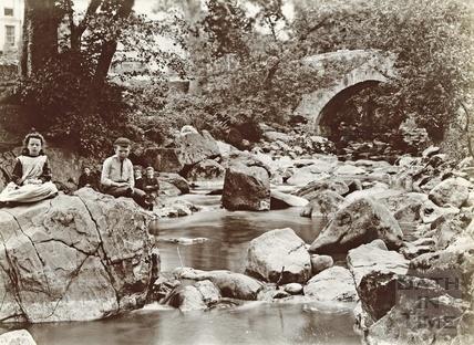 River scene with children, Wells 1892