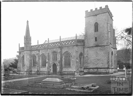 Holy Trinity church, Burrington, Somerset February 1935