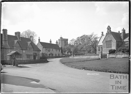Lullington village with the village pump, near Beckington, Somerset 3 May 1935