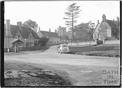Lullington village with the village pump, near Beckington, Somerset c. 13 October 1935