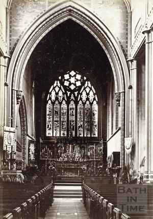 Inside St Mary's Church, Bathwick 1892