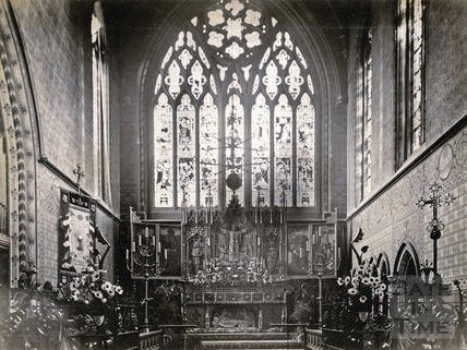 Inside St Mary's Church, Bathwick,1892