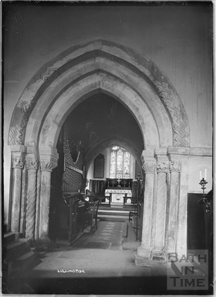 Inside Lullington Church, near Beckington, Somerset c. 13 October 1935 5 120 167
