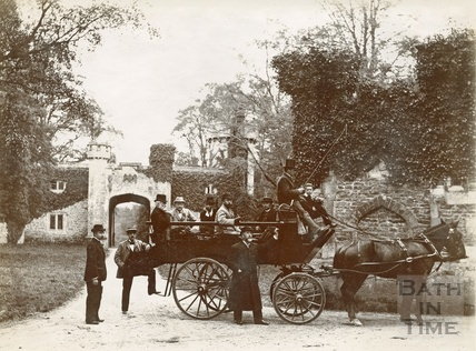 Carriage scene outside the gates of Orchardleigh, 1892