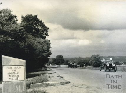 Site of the West Wells Hartlake Turnpike on the Glastonbury road c.1950s