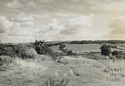 View from Odd Down towards Dunkerton c.1950s
