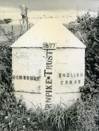 Turnpike marker - Combe Hay and Englishcombe c.1950s