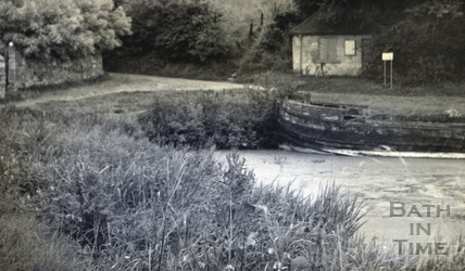 The junction of the Kennet and Avon Canal and Somersetshire Coal Canal, Dundas Aqueduct c.1950