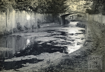 The Kennet and Avon Canal passing through Sydney Gardens, Bath c.1950