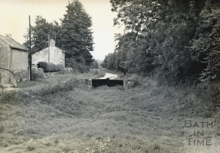 Stop gates east of Avoncliff on the Kennet and Avon Canal c.1950