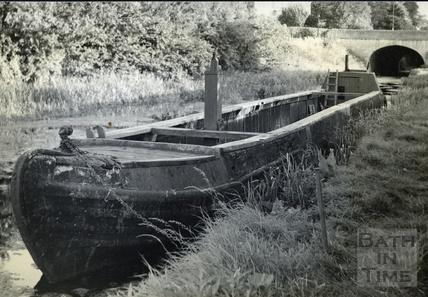 A narrowboat near the site of Darlington Wharf, Bath c.1950s