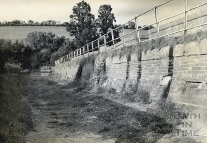On the canal bed on the Avoncliff Aqueduct c.1950