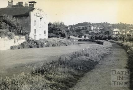 Baird's Maltings on the Kennet and Avon Canal, Sydney Gardens, Bath c.1950