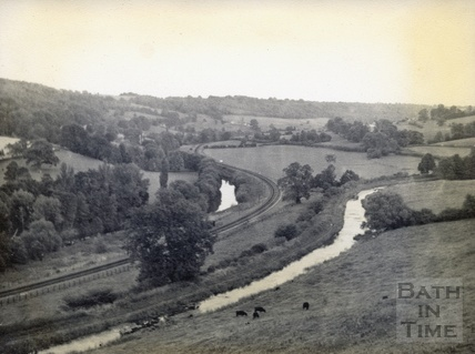 View of the Limpley Stoke Valley from Dry Arch c.1950