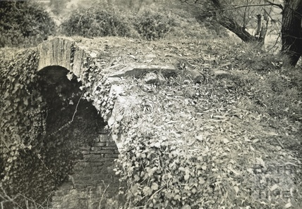 Remains of the stone bridge around Paulton Basin c.1950s