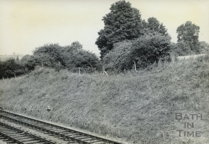 Canal bed and cutting for the Somerset & Dorset Joint Railway at Wellow c.1950s