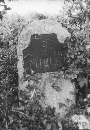 9 mile milestone between Camerton and Radford c.1950s