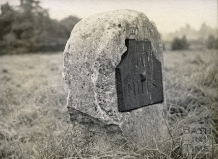 10 mile milestone at Paulton c.1950s