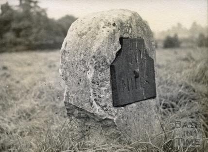 10 mile milestone at Paulton c.1950s
