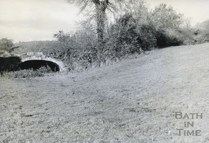 Line of the canal at Edford and bridge c.1950s