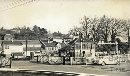 Radstock Station and level crossing c.1950s