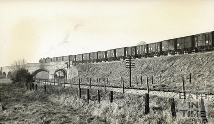 The Great Western Line shown below the Somerset & Dorset at Five Arches, Radstock c.1950s