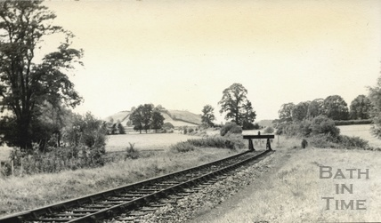 The Somerset & Dorset line coming into Wells, Priory Road c.1950s