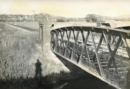 Somerset & Dorset railway bridge between Glastonbury and Highbridge c.1950s