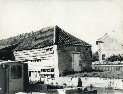 The unrestored wharf building, Bradford-on-Avon 1974