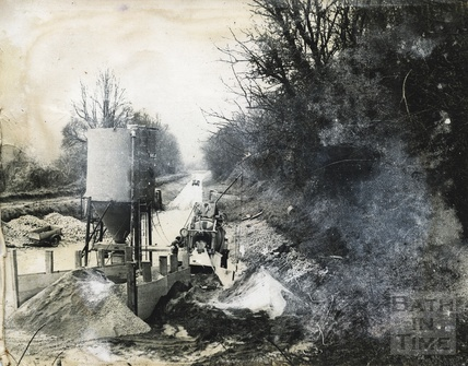 The Kennet and Avon Canal, Avoncliff during restoration c.1974?