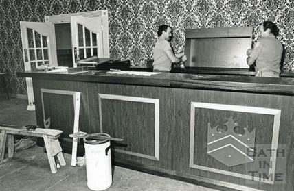 Refurbishing the bar at the Pavilion 14 November 1990