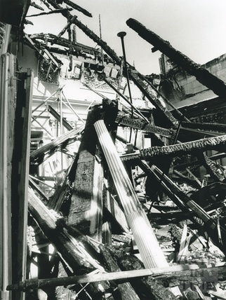 The aftermath of the fire at Prior Park 1991