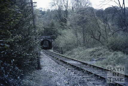 Combe Down tunnel demolition trains November 1967
