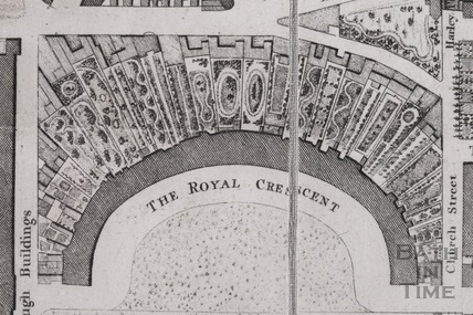 The City Of Bath Map By Charles Harcourt Masters Showing