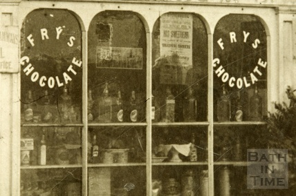 Nos 1 & 2 Beech View, Claverton Down c.1950? - detail of shop window