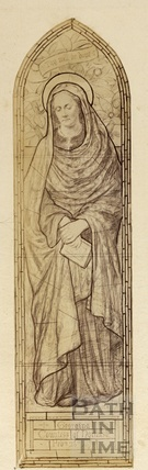 Design for stained glass window of Countess of Northesk, wife of the 8th Earl