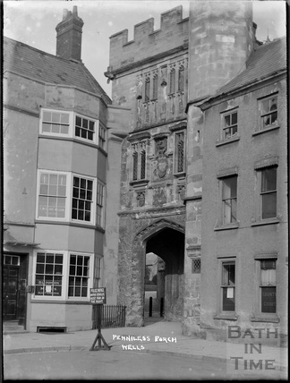 The Penniless Porch, Wells c.1930s