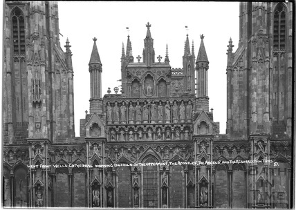 West front Wells Cathedral c.1930s