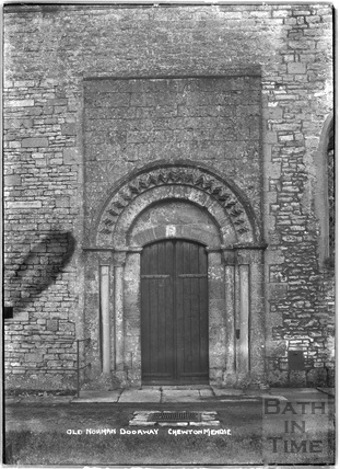 Norman doorway, Chewton Mendip c.1930s