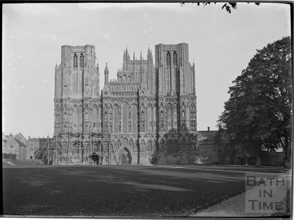 The West front of Wells Cathedral c.1930s