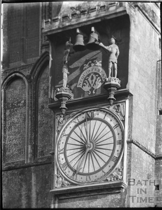 The Great Clock, Wells Cathedral c.1930 - detail