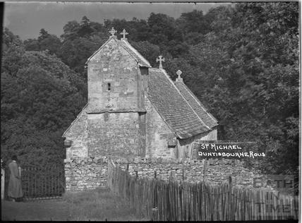 St Michael's Church, Duntisbourne Rouse, Gloucestershire, c.1930s