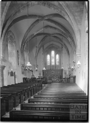 Inside Witham Friary Church c.1930s