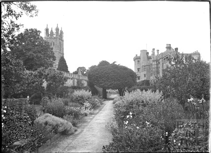 Thornbury Castle and church, South Gloucestershire, c.1930s