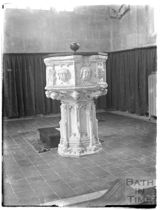 Font, Northleach church, Glos, c.1930s