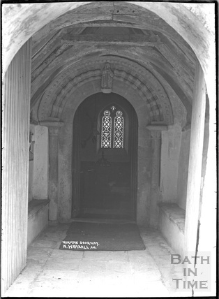 Norman Doorway, North Wraxall Church, Wilts, c. Nov 1933