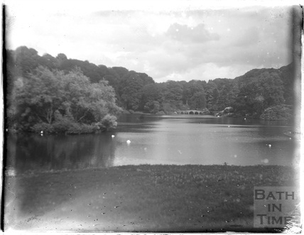 The lake at Stourhead, Stourton, c.1920s