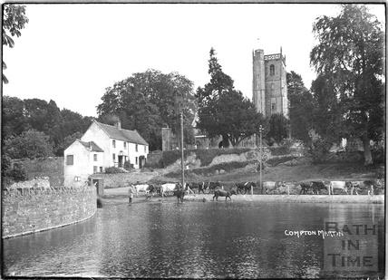 Village Scene, Compton Martin, Chew Valley, Somerset c.1930s