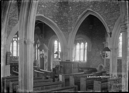Inside St Giles's Church, Leigh on Mendip, Somerset 28 June 1935